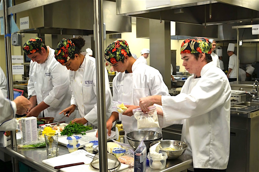Santana High School's team gets ready to rumble.