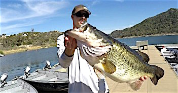 Monster alert 16 3 pound bass caught at lake wohlford for Lake wohlford fishing report