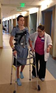 Walking again at Palomar Medical Center.