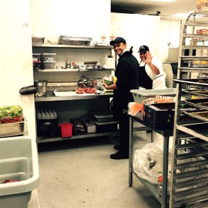 Chefs down at Bekkers get jiggy with the world class BBQ catering.