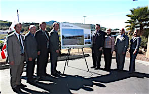 San Marcos Mayor Jim Desmond, Escondido Mayor Sam Abed, SANDAG Board Chairman and Encinitas Mayor Jerome Stocks, and Caltrans District 11 Acting Director Bill Figge.