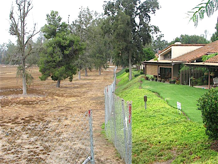 Remember when? Escondido Country Club fairway, left, home landscaping, right.