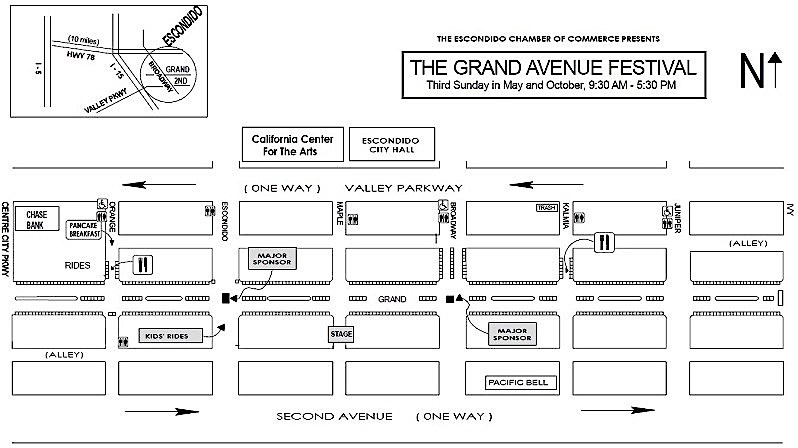 Lay-out of the festival land.