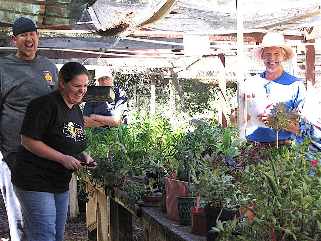 Enjoying the recent Dos Valles Garden club plant sale.
