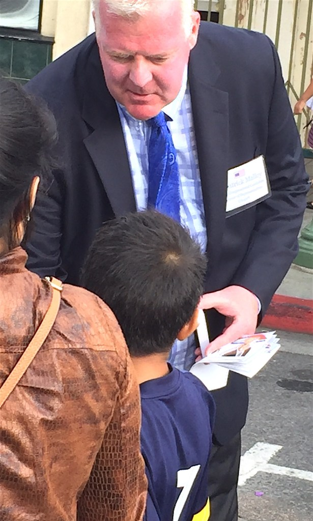 Patrick Malloy, Democrat running for the 50th Congressional District seat hits the street.