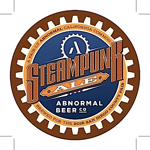 Steampunk Ale coaster.