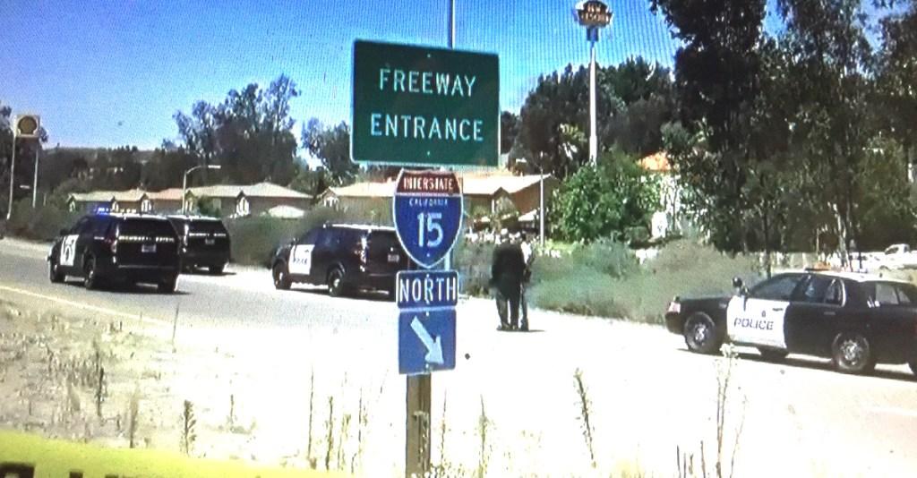 El Norte I-15 on-ramp investigation. (CW6 screen shot)