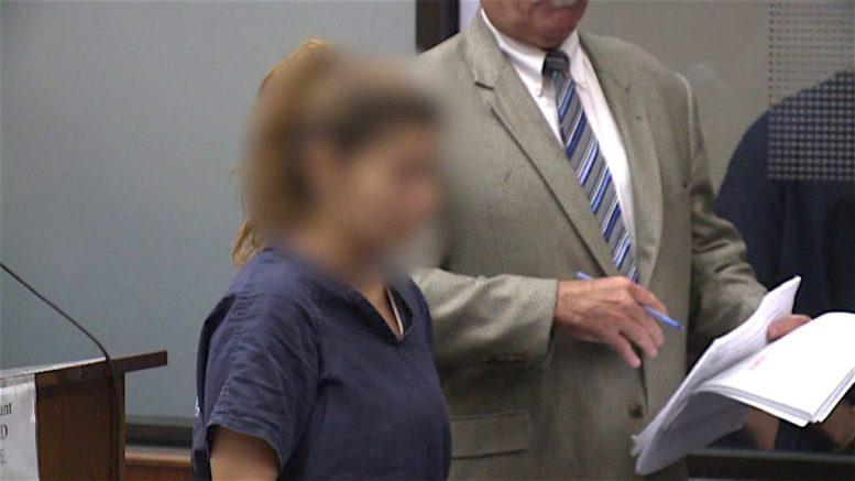 San Marcos prostitution suspect at arraignment.