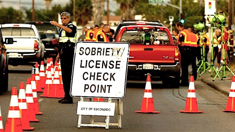 Another DUI checkpoint with no DUI drivers   Escondido Grapevine