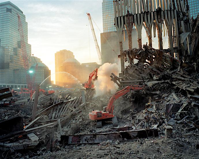 Joel Meyerowitz, Inside the pile, looking west (Fall 2001)