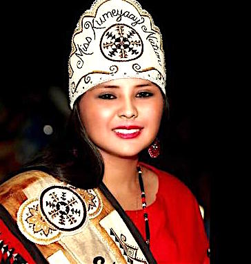 Autumn Brown, 19, who grew up on the Viejas Band of Kumeyaay Indians' reservation in Alpine, California, recently finished her year representing her culture as Miss Kumeyaay Nation