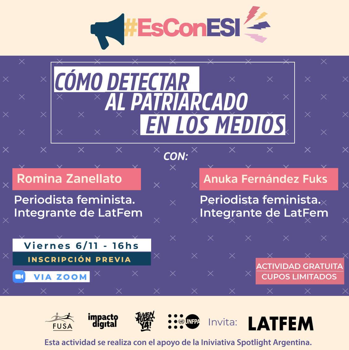 Flyer de Ciclo de formación #EsConESI - 4° encuentro con LATFEM