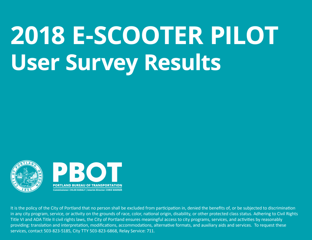 E Scooter Pilotstudie