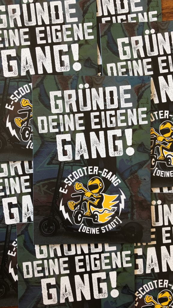 E Scooter Gang Flyer