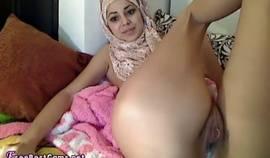 Arab Hijab Teen Masturbates To Extreme Squirting Orgasm