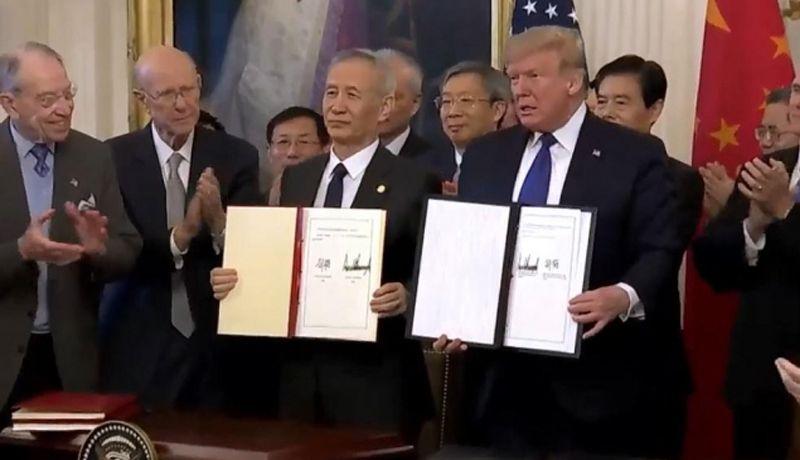 China y EU firman primera fase del acuerdo comercial