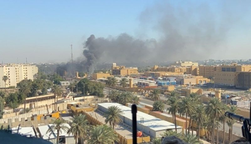 Cohetes contra embajada y base militar de EUA en Irak