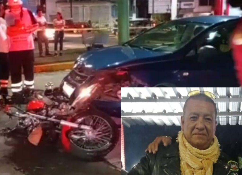 """GRAVE, """"BIKER"""" EMBESTIDO POR AUTO EN FORTÍN"""