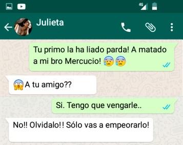 Romeo y Julieta: un drama por WhatsApp