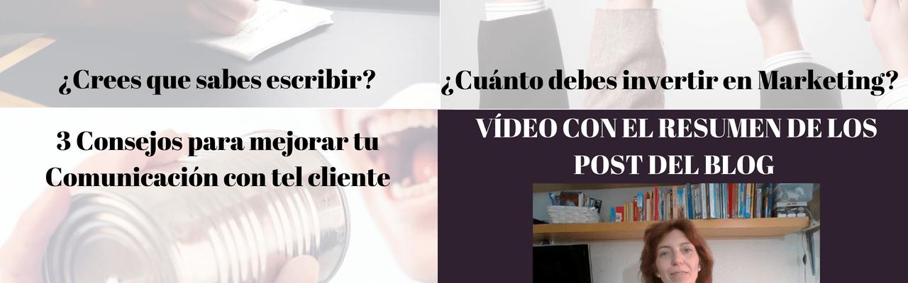 Video 3 Consejos de Comunicación - Crees que sabes escribir - Cuánto debes invertir en Marketing