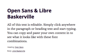 claves de Diseño Web - Combinacion tipografia Open sans con libre basketville