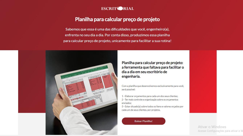 Planilha Para Calcular Preco De Projeto - Contabilidade em Uberlândia | Escritorial Contabilidade