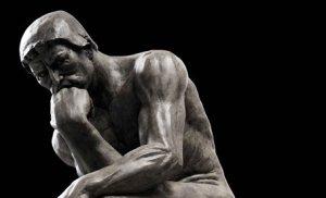 """El pensador"", estatua por Auguste Rodin, usualmente utilizada para representar la filosofía. Budismo religion o filosofia"