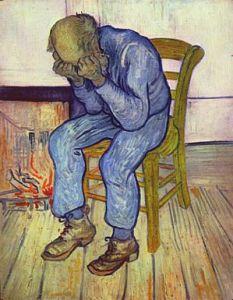 "Pintura por Vicent Van Gogh, ""Hombre en pena"""