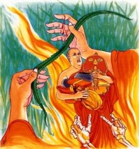 Imagen de la versión ilustrada del Dhammapada, verso 311
