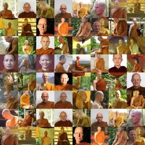 Sangha - Miembros de la Sangha en Wat Pah Nanachat