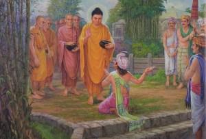 The Buddha y Sudatta Anapindika