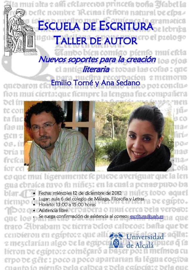 Cartel Nuevos Soportes para la Creación Literaria
