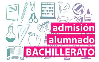 Admisión alumnado Bachillerato curso 2020/21