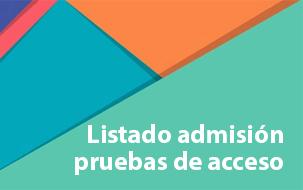 publicación del Listado de admisión de pruebas de acceso a ciclos formativos