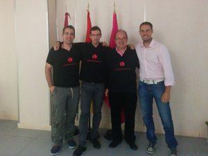 De izquierda a derecha: Marco, José Mª, Paco, Ángel