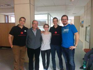 De izquierda a derecha: Marco, Paco Páez, Anne Reulke, José Mª Bea, Boris Konrad