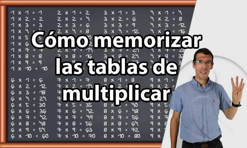 Cómo memorizar las tablas de multiplicar