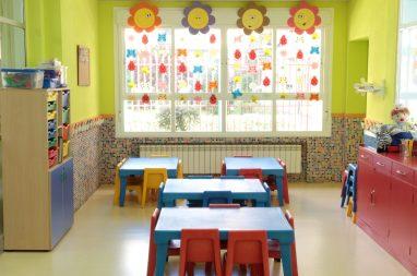 Aula para psicomotricidad fina en la Escuela Infantil Booma