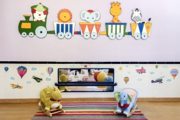 Espejo para bebés en la Escuela Infantil Booma