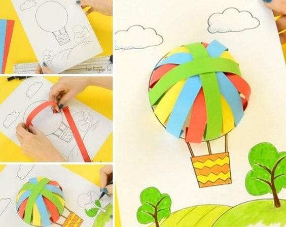 Actividad con globo aerostático. Educación Infantil.