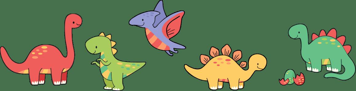 Dinosaurios de colores para niños