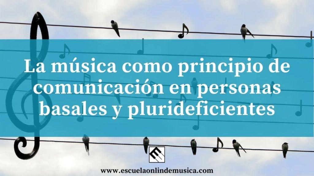 La música como principio de comunicación en personas basales y plurideficientes