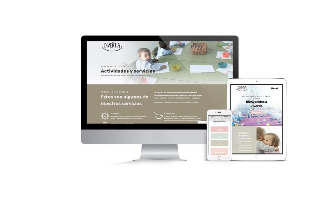 Imágenes del sitio web de la Guardería ABC