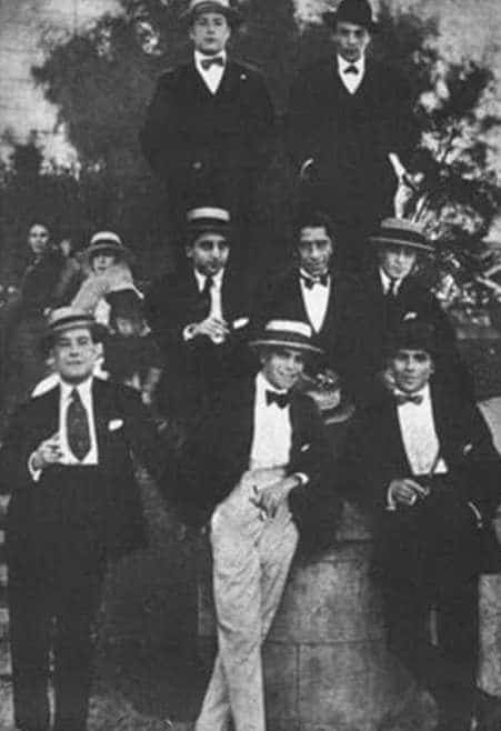Arolas en Montevideo 1919. History of Tango by Marcelo Solis. Escuela de Tango de Buenos Aires.
