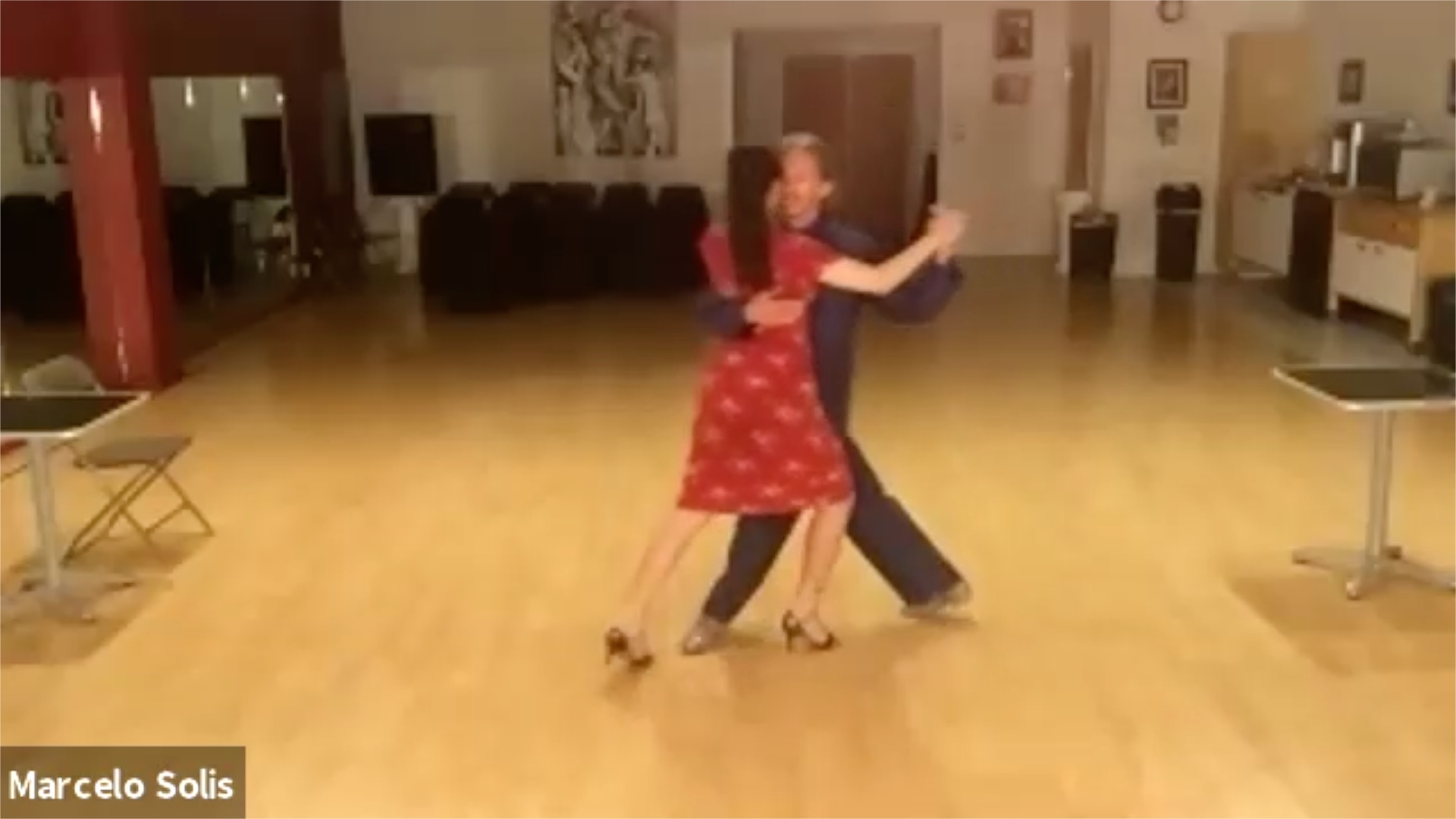 Argentine Tango Dancing with Miranda at our virtual class broadcasted from San Francisco