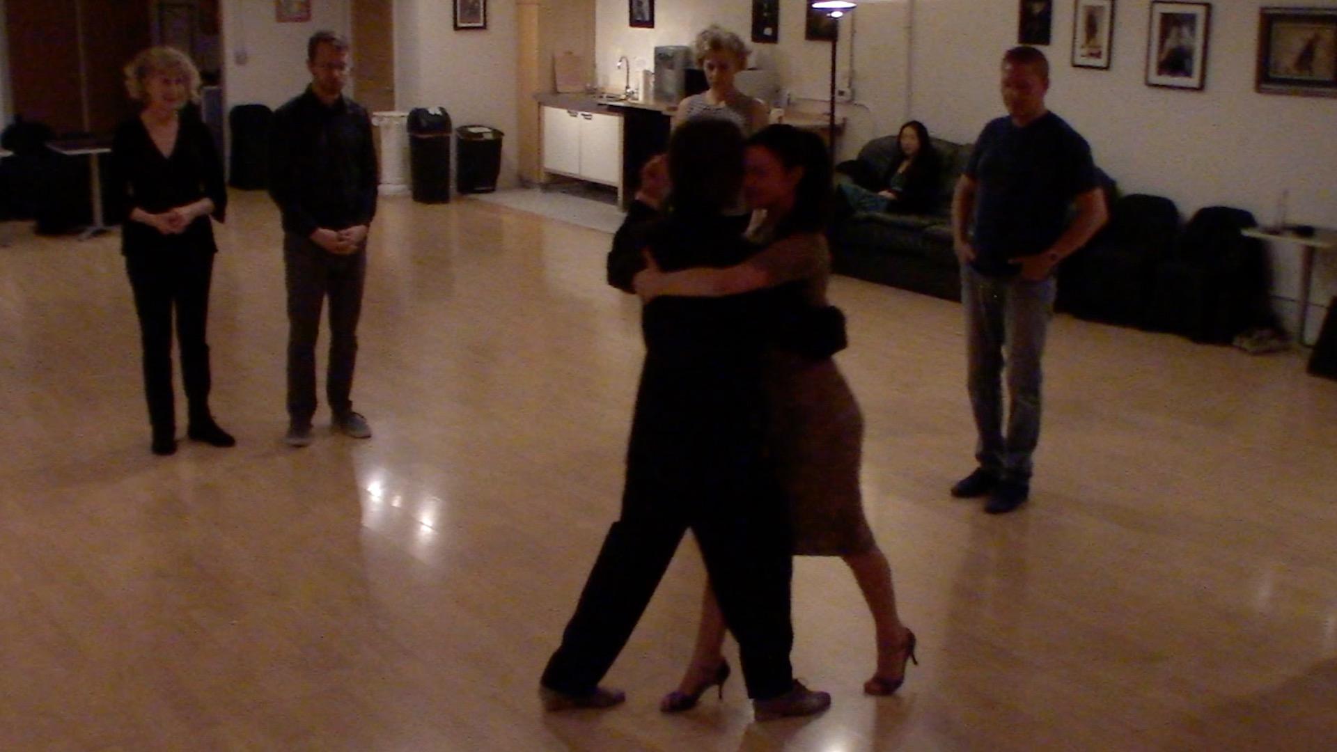 Argentine Tango beginner class with Miranda: backward and forward ochos