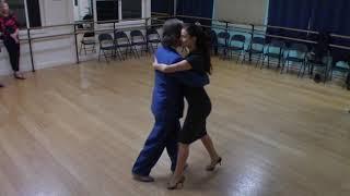 Argentine Tango beginner class with Miranda- basic milonga walk