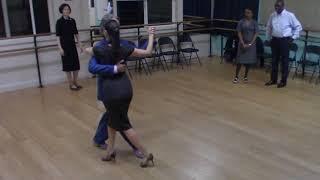 Argentine Tango beginner class with Miranda: docking exercise 2