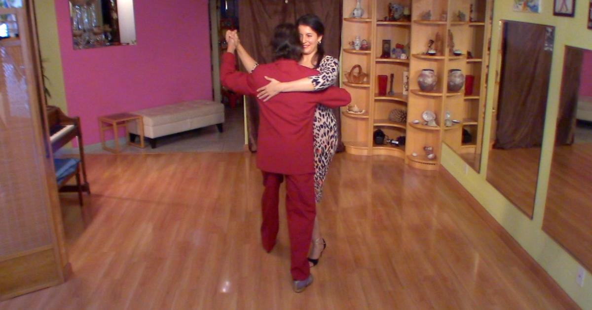Argentine Tango class: backward ocho variation, with Marcelo Solis and Mimi.