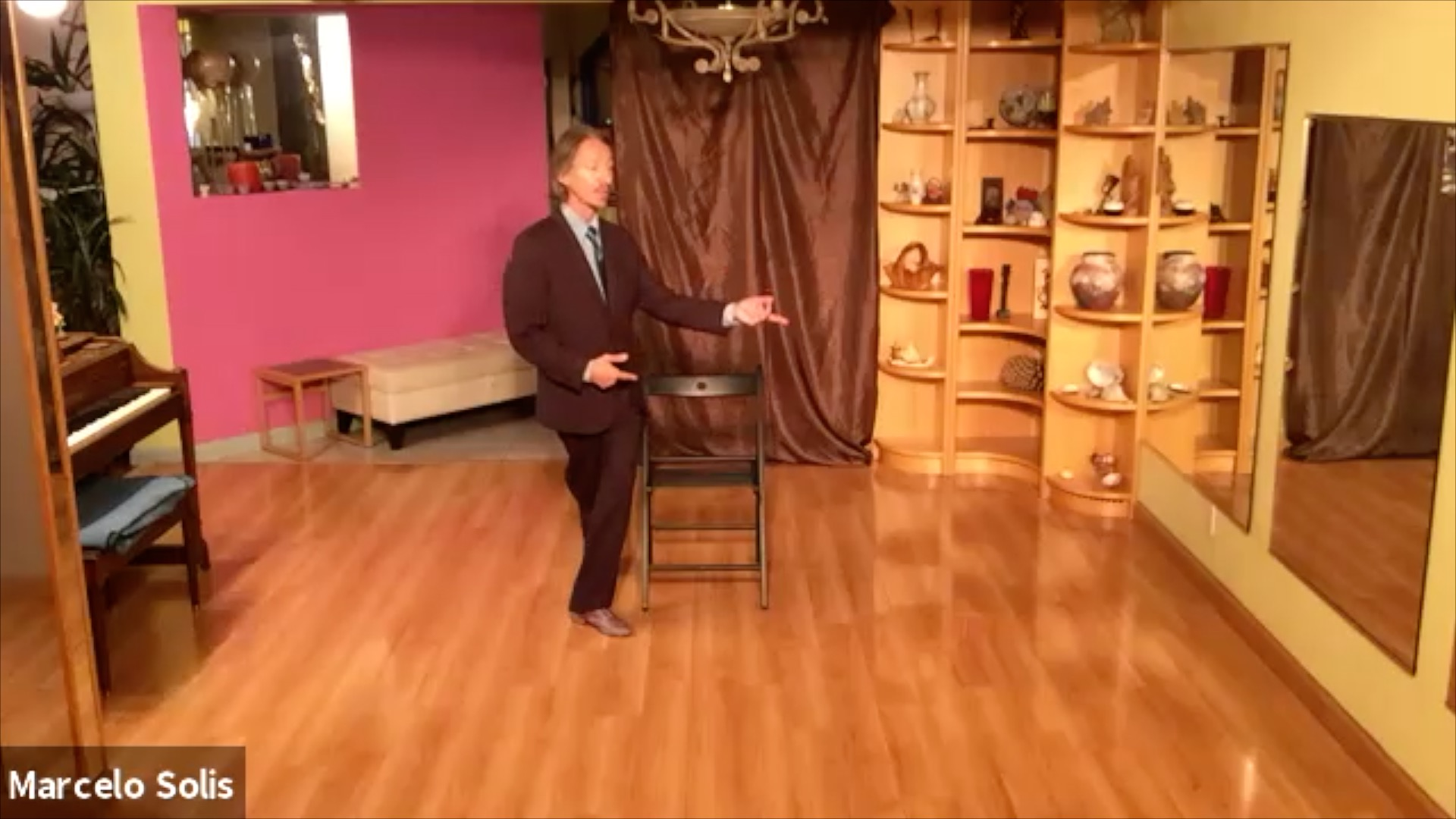 Argentine Tango class: chair exercise variation
